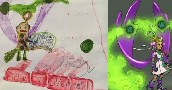 小朋友創意無限 Blizzard畫師助一把成《Overwatch》新角色