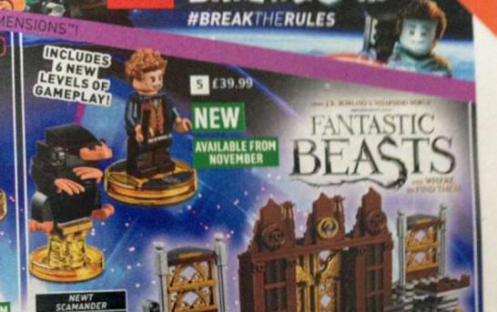 《怪獸與牠們的產地》戲都未上就先公佈入LEGO Dimensions系列