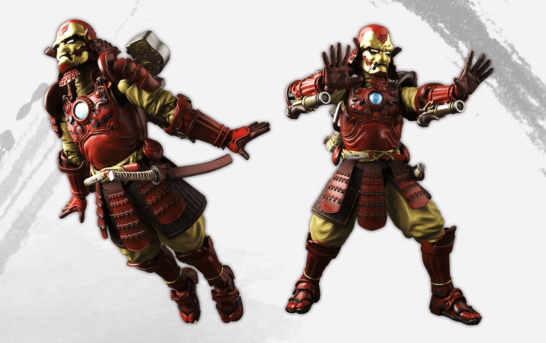 日本武士版 Iron Man 參上 ! 飛天手裏炮堅揪勁 !