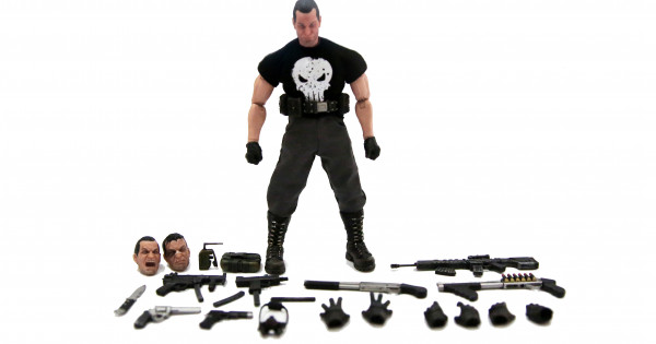[開箱] 1/12 著衫 figure Mezco Punisher Deluxe Edition
