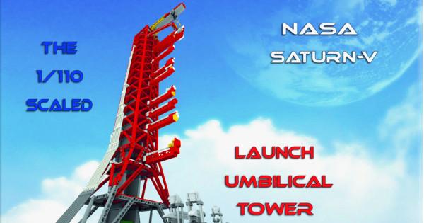 [NASA專業意見創作] NASA Saturn-V Launch Umbilical Tower