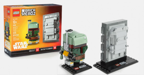 【終於到星戰】NYCC 限定 LEGO BrickHeadz Boba Fett and Han Solo in Carbonite